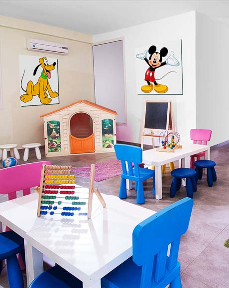 Play area for younger guests
